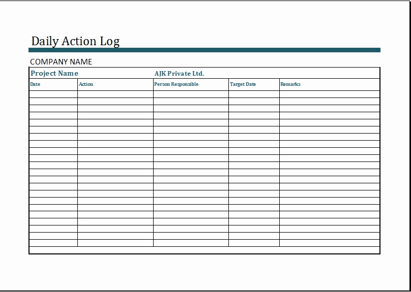 Employee Call Off Log Template Inspirational Daily Work Log Template Microsoft Excel Daily Work Log