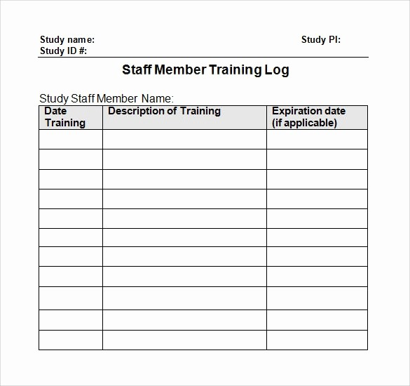 Employee Call Off Log Template New 28 Log Templates