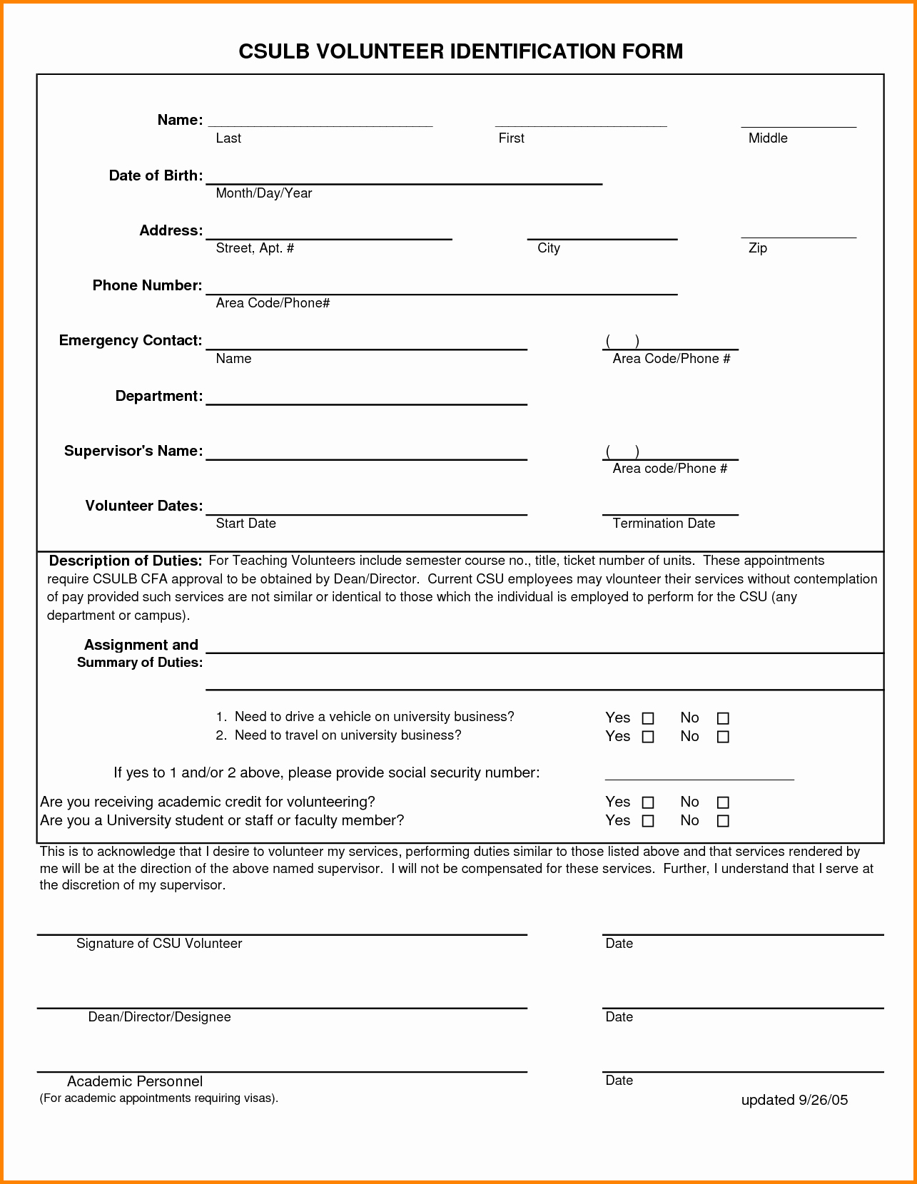 Employee Emergency Contact form Word New Emergency Contact form Template Sarahepps