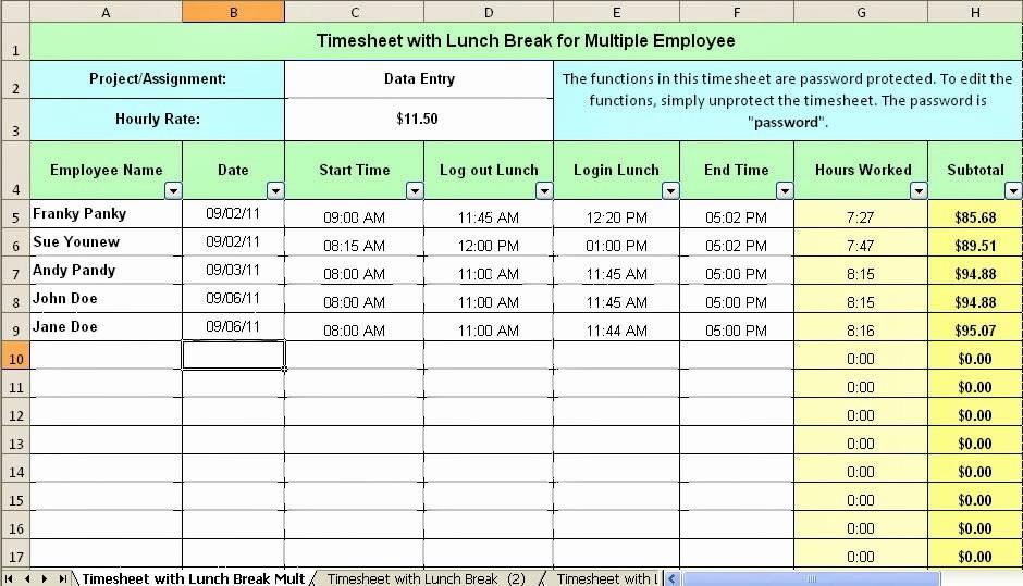 Employee Lunch Break Schedule Template Awesome Employee Break and Lunch Schedule Template Employee Break