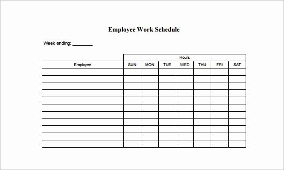 Employee Lunch Break Schedule Template Elegant Employee Schedule Template 5 Free Word Excel Pdf