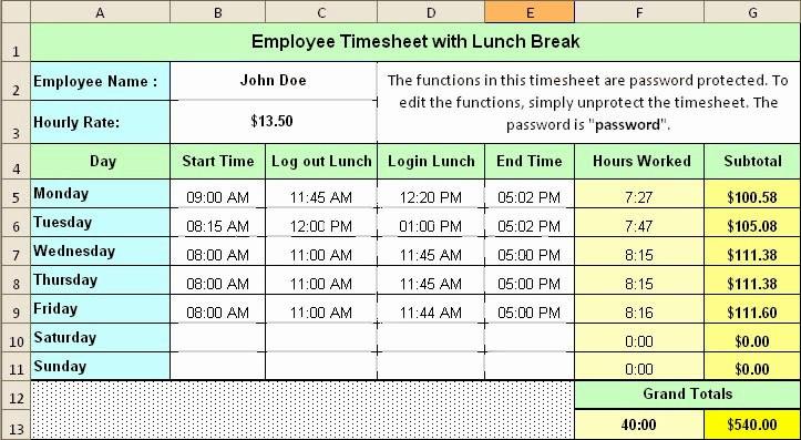 Employee Lunch Break Schedule Template Fresh Lunch and Break Schedule Templates