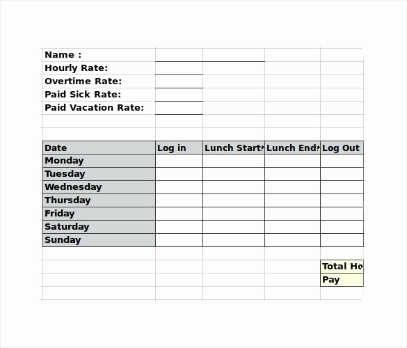 Employee Lunch Break Schedule Template Inspirational Weekly Employee Template Lunch Break Schedule – Chaseevents
