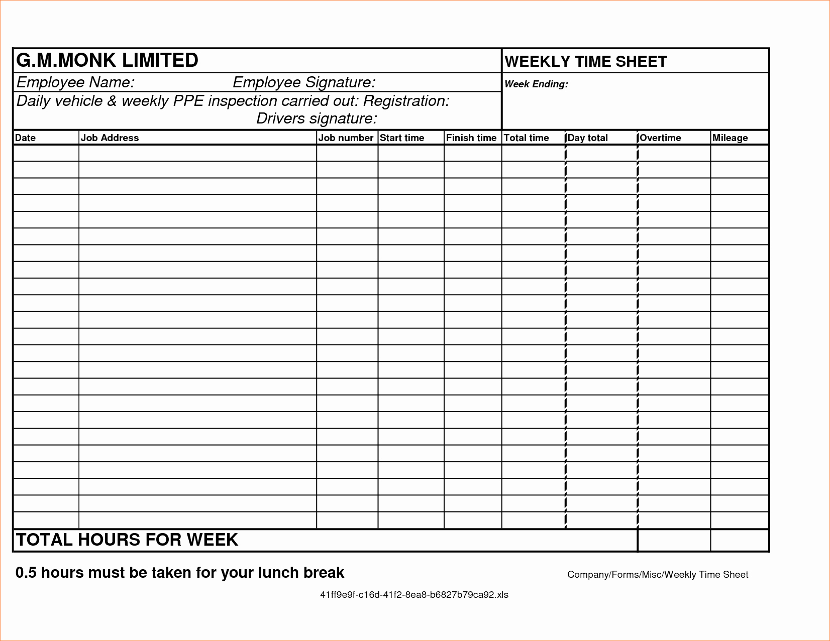 Employee Lunch Break Schedule Template Lovely Free Line Time Card Calculator with Breaks Time Clock