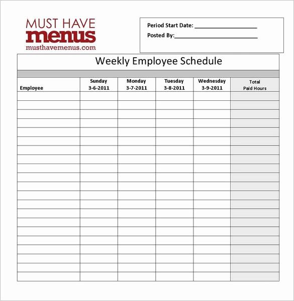 Employee Lunch Break Schedule Template Unique 12 Hour Lunch and Break Schedule Example