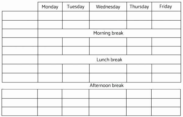 Employee Lunch Break Schedule Template Unique Lunch Break Schedule Template Employee Lunch Schedule
