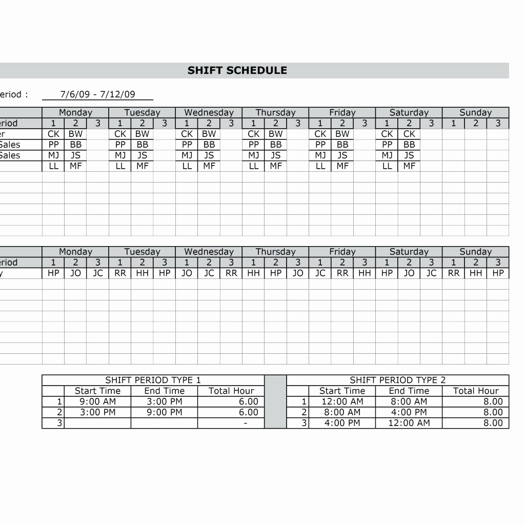 Employee Monthly Work Schedule Template Awesome Template Schedule Template In Excel