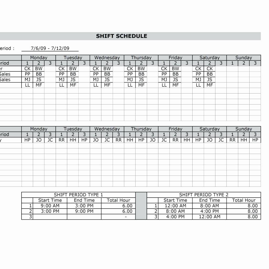 Employee Monthly Work Schedule Template Awesome Template Schedule Template In Excel