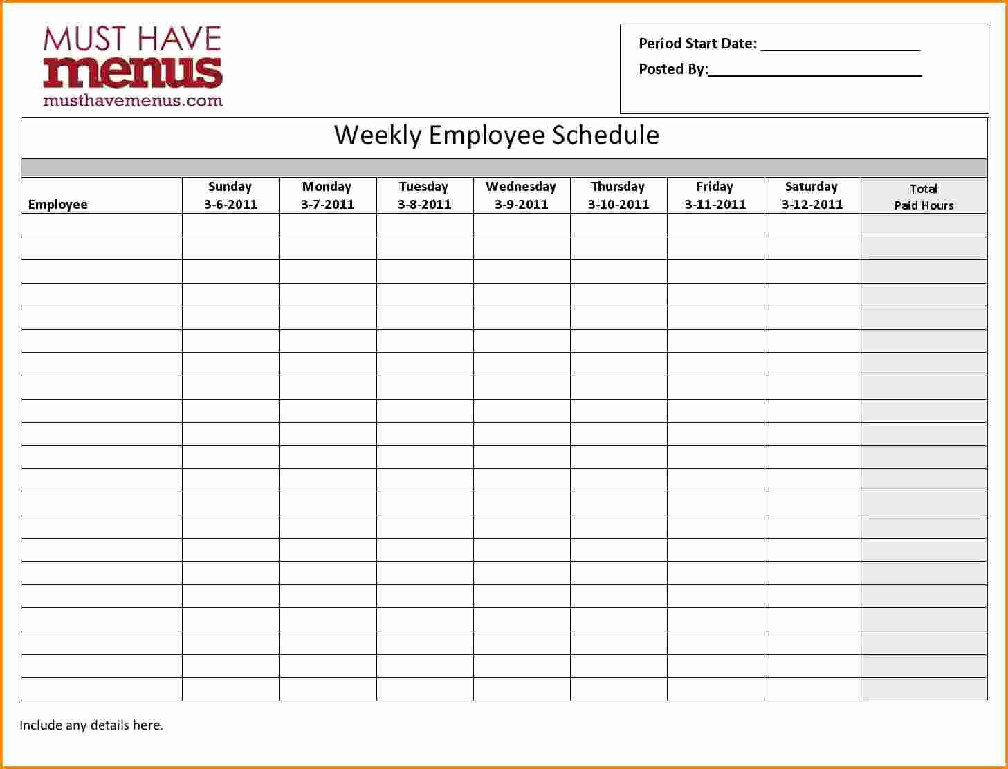 Employee Monthly Work Schedule Template Beautiful 7 Monthly Employee Schedule Template
