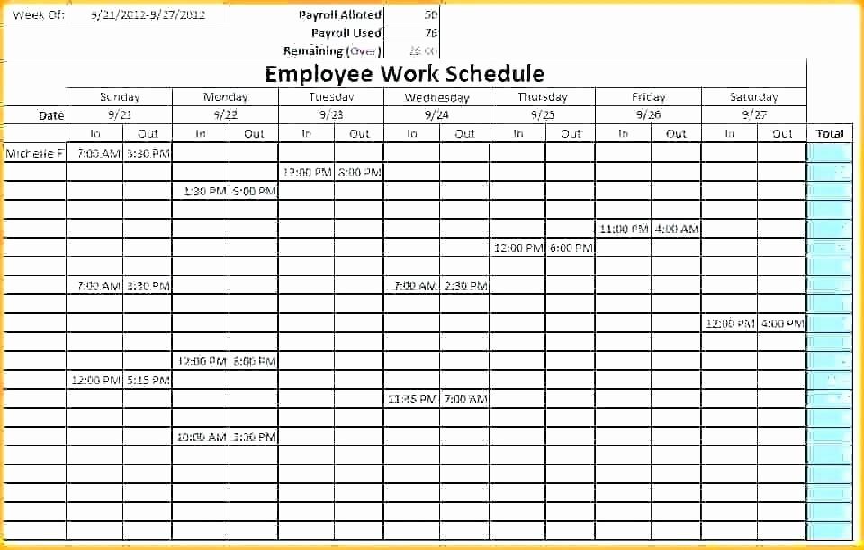 Employee Monthly Work Schedule Template Best Of Free Shift Schedule Template Free Work Schedule Template
