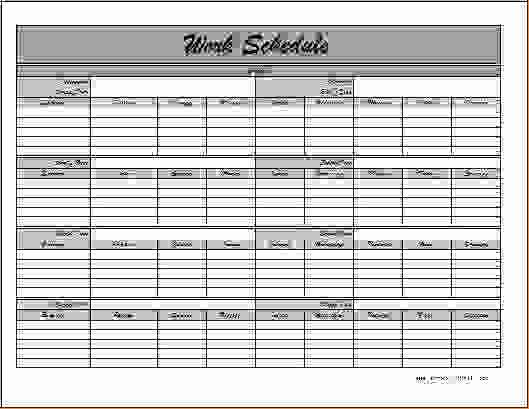 Employee Monthly Work Schedule Template Elegant 6 Monthly Employee Schedule Template