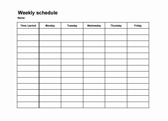 Employee Monthly Work Schedule Template Elegant Employee Shift Schedule Template 12 Free Word Excel