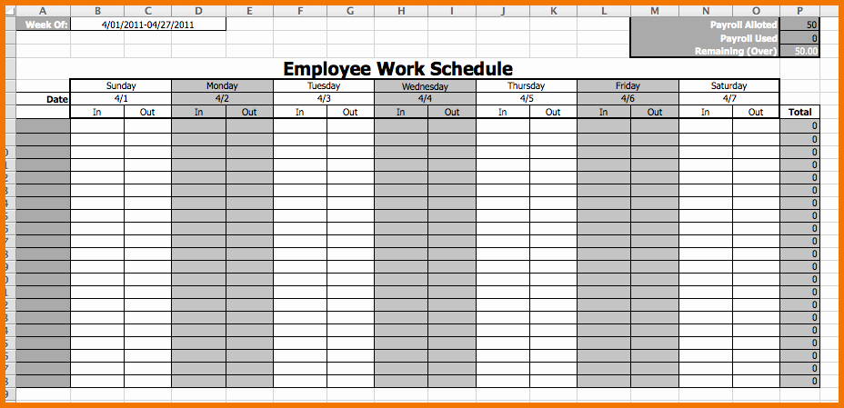 "Employee Monthly Work Schedule Template Fresh Search Results for ""schedule Template Monthly Employee"