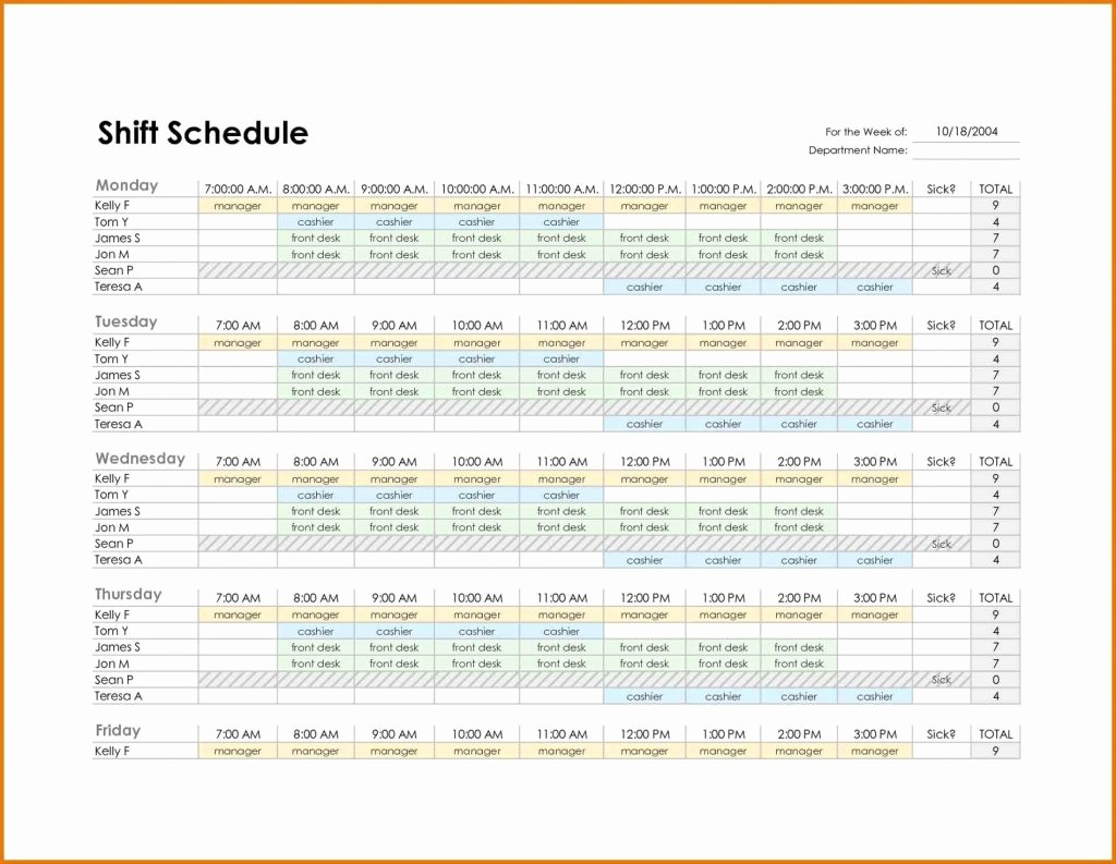 Employee Monthly Work Schedule Template Inspirational Excel Work Schedule Template Image Collections