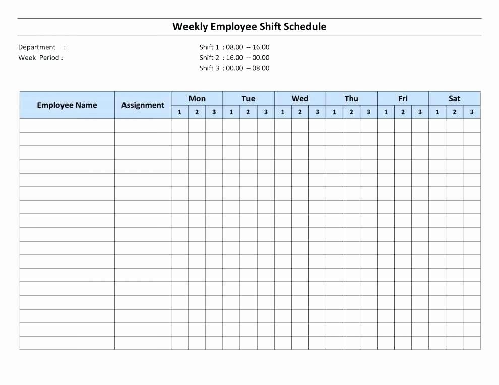 Employee Monthly Work Schedule Template Luxury Excel Employee Schedule Monthly Staff Template Work