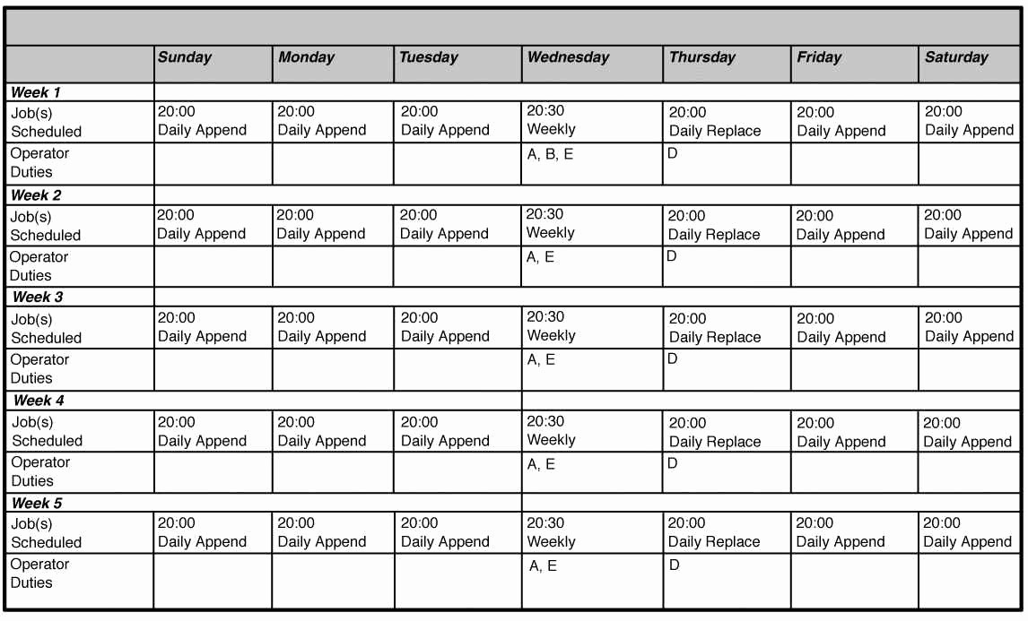 Employee Monthly Work Schedule Template New Download Scheduling Spreadsheet for Excel