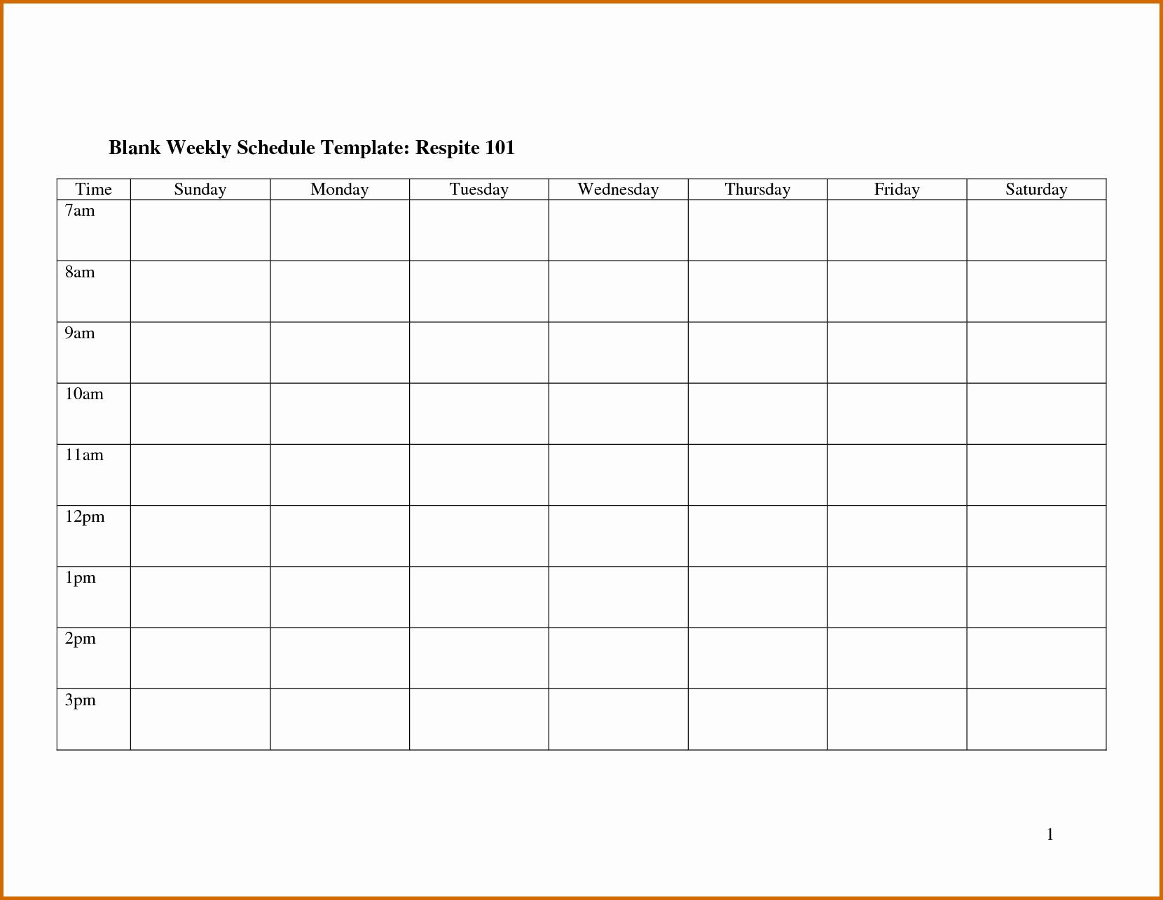 Employee Monthly Work Schedule Template Unique Blank Weekly Employee Schedule Template to Pin On