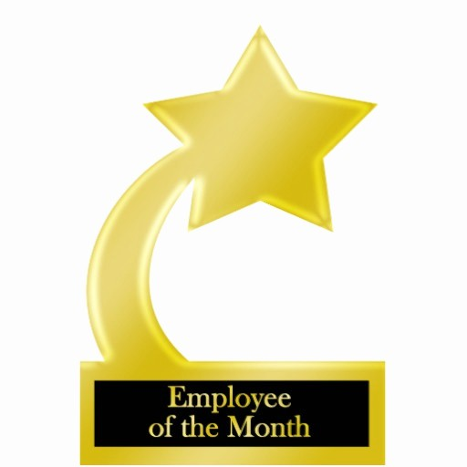 Employee Of the Day Certificate Awesome Employee Of the Month Gold Star Award Trophy