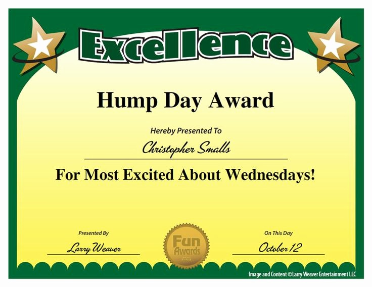 Employee Of the Day Certificate Beautiful 18 Best Funny Employee Awards Images On Pinterest