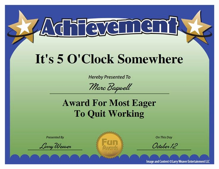 Employee Of the Day Certificate Beautiful 25 Best Ideas About Employee Awards On Pinterest