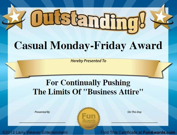 Employee Of the Day Certificate Fresh the 25 Best Funny Certificates Ideas On Pinterest