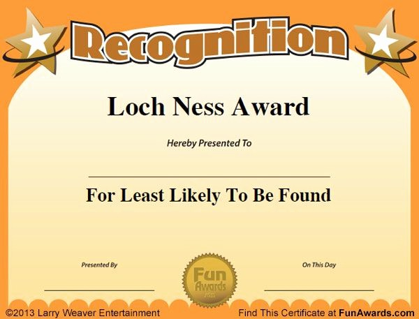 Employee Of the Day Certificate Lovely 16 Best Images About Funny Employee Awards On Pinterest