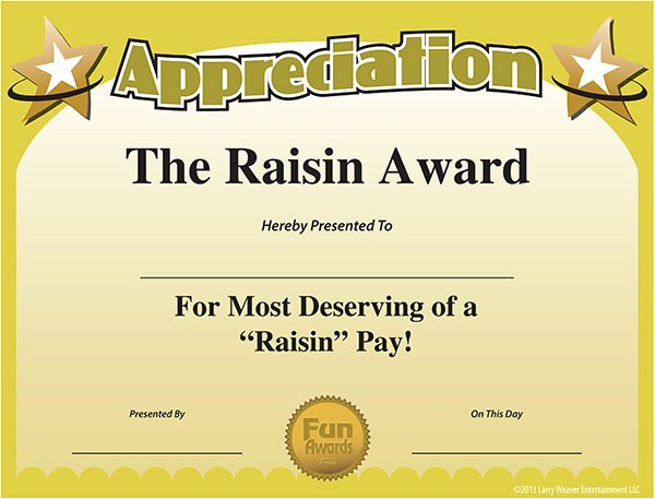 Employee Of the Day Certificate Lovely Funny Award Ideas Employee Appreciation Day
