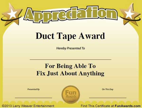 Employee Of the Day Certificate New 101 Funny Employee Awards by Edian Larry Weaver Employee