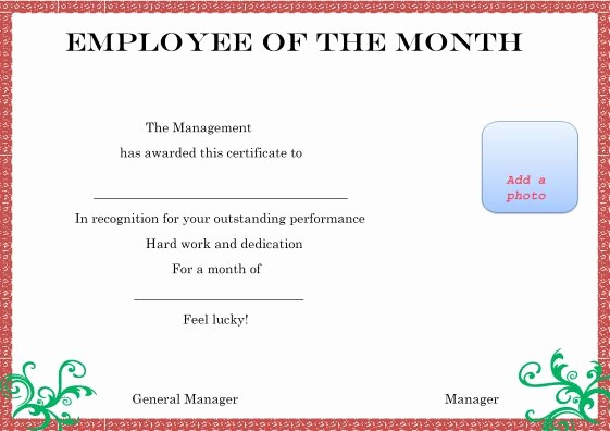 Employee Of the Month Free Awesome Elegant and Funny Employee Of the Month Certificate