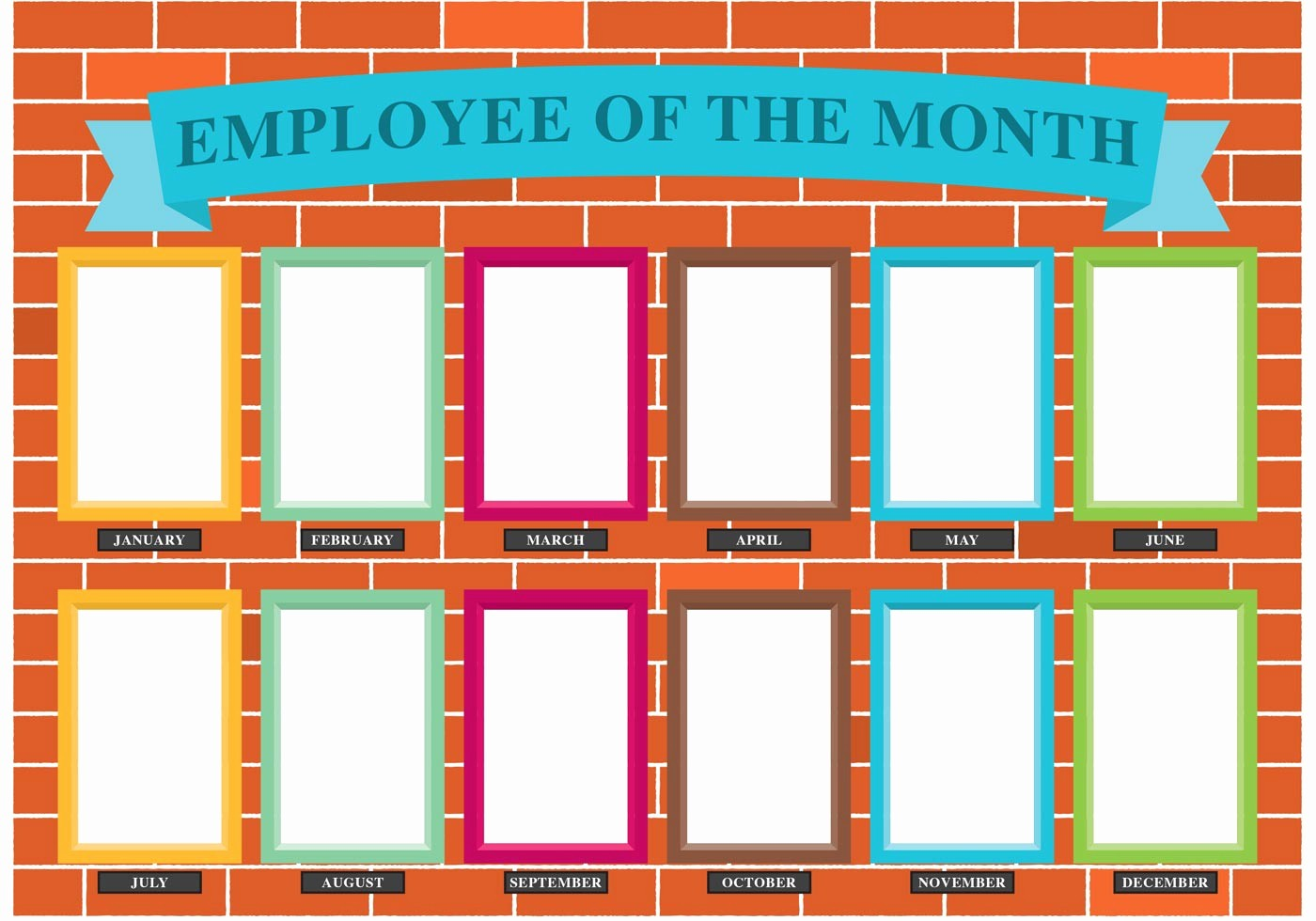 Employee Of the Month Free Awesome Employee the Month Wall Vector Download Free Vector