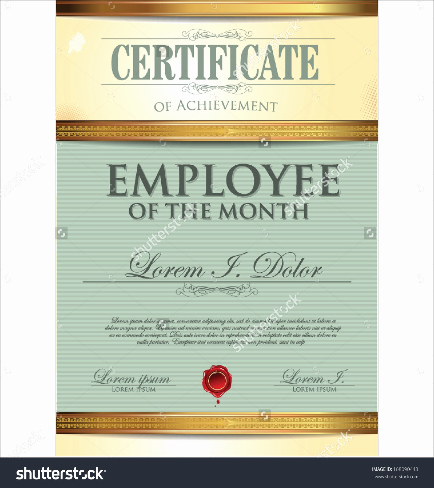 Employee Of the Month Free Awesome Free Employee the Month Certificate Template