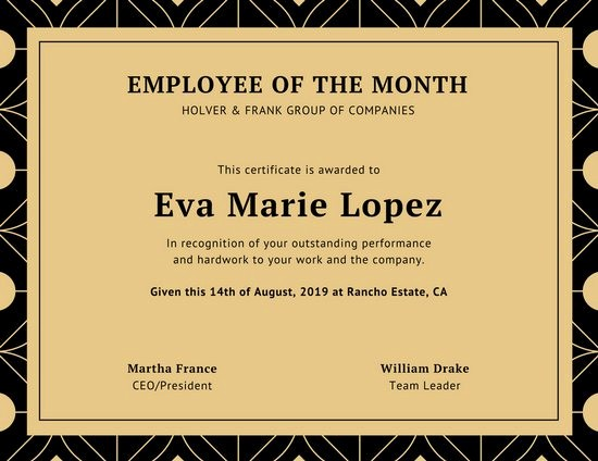 Employee Of the Month Free Beautiful Customize 1 508 Employee the Month Certificate