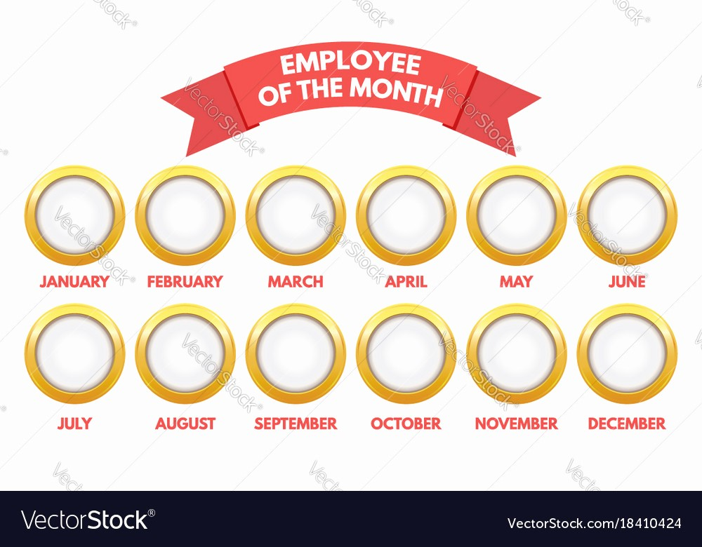 Employee Of the Month Free Beautiful Employee Of the Month Calendar Royalty Free Vector Image