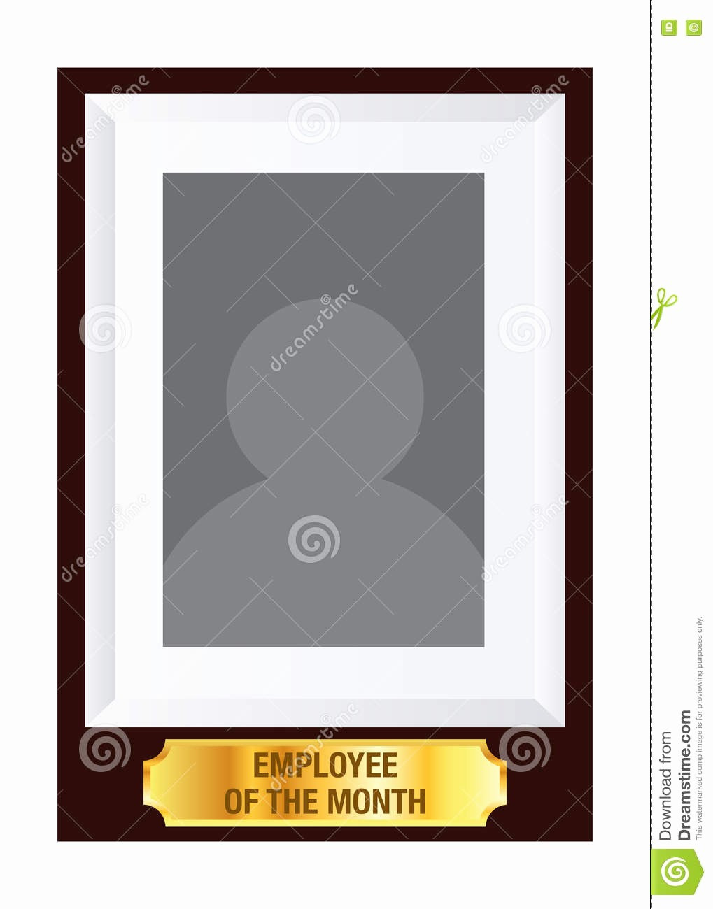 Employee Of the Month Free Beautiful Employee the Month Frame Template Stock Vector