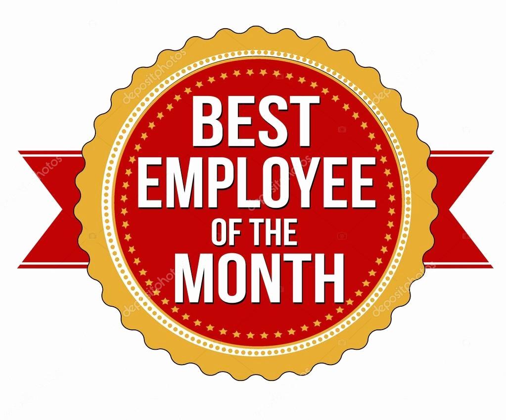 Employee Of the Month Free Best Of Mitarbeiter Des Monats Etikett Oder Stempel — Stockvektor
