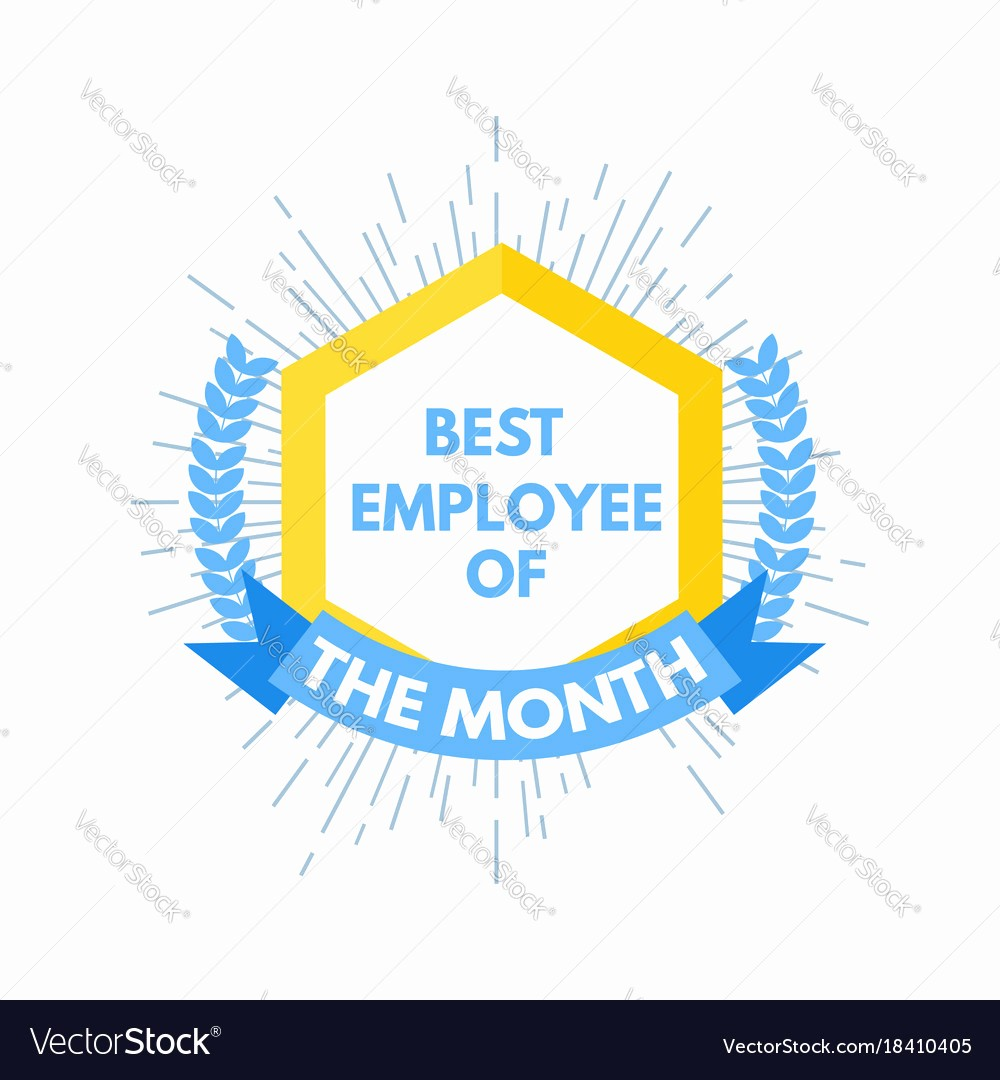 Employee Of the Month Free Elegant Employee Of the Month Label Royalty Free Vector Image