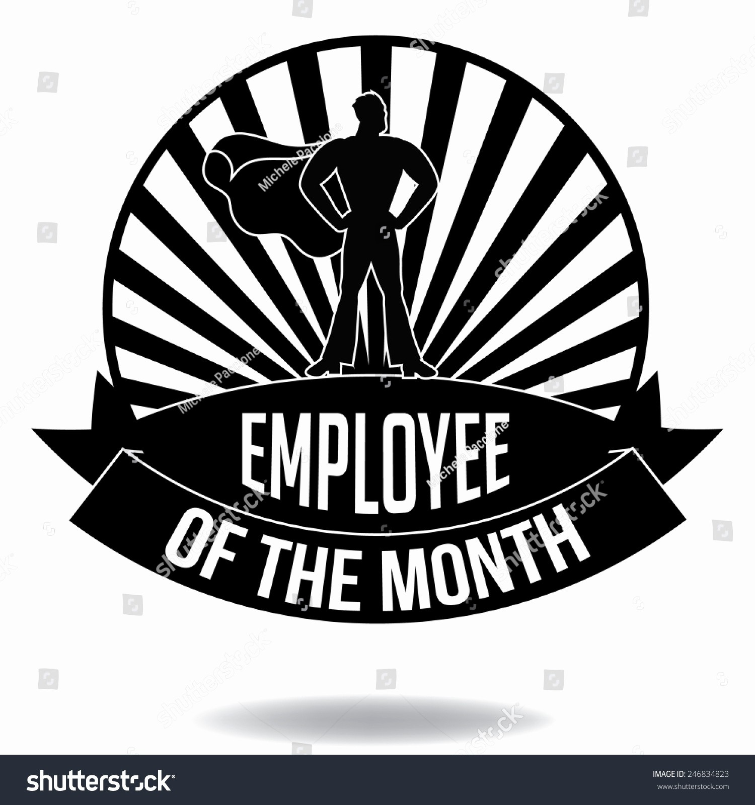 Employee Of the Month Free Elegant Employee the Month Burst Icon Eps 10 Vector Royalty