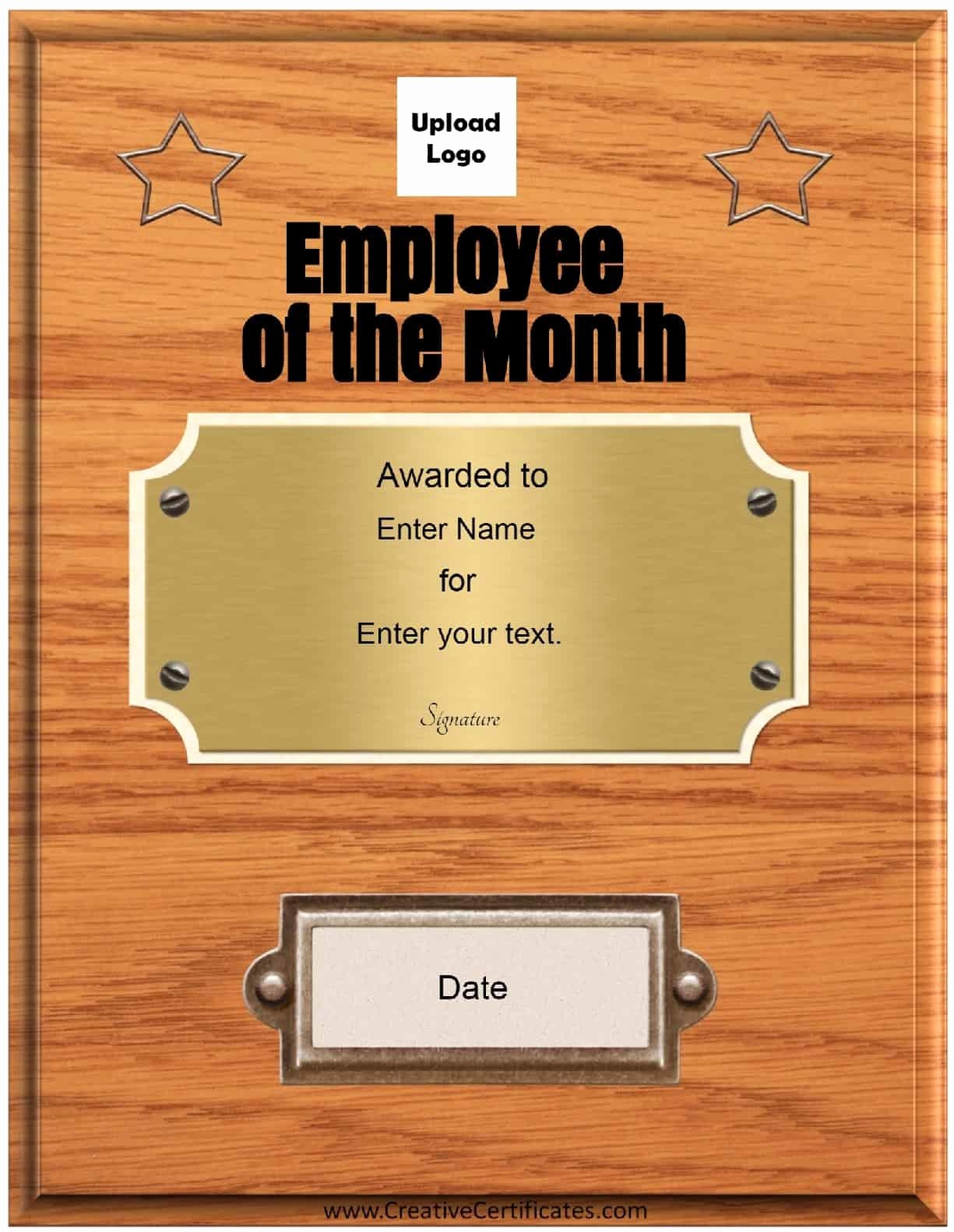 Employee Of the Month Free Elegant Free Custom Employee Of the Month Certificate