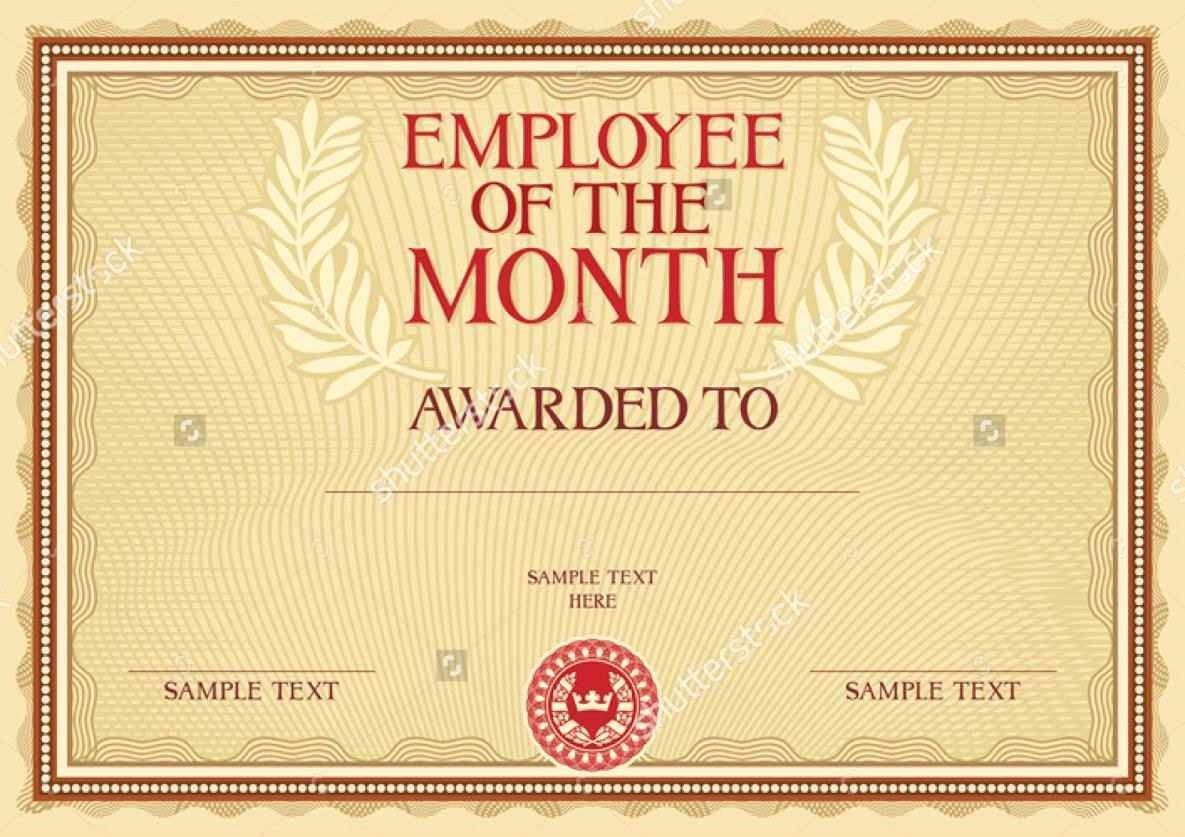 Employee Of the Month Free Inspirational Employee the Month Award Template Template Update234