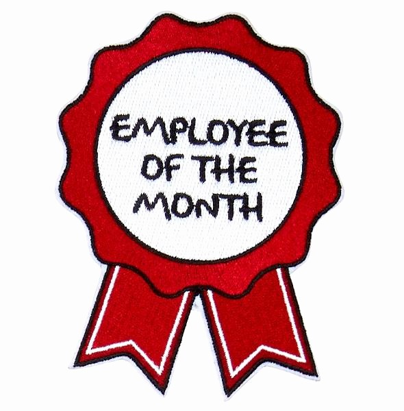 Employee Of the Month Free Inspirational Employee the Month Badge – Oliver Thomas