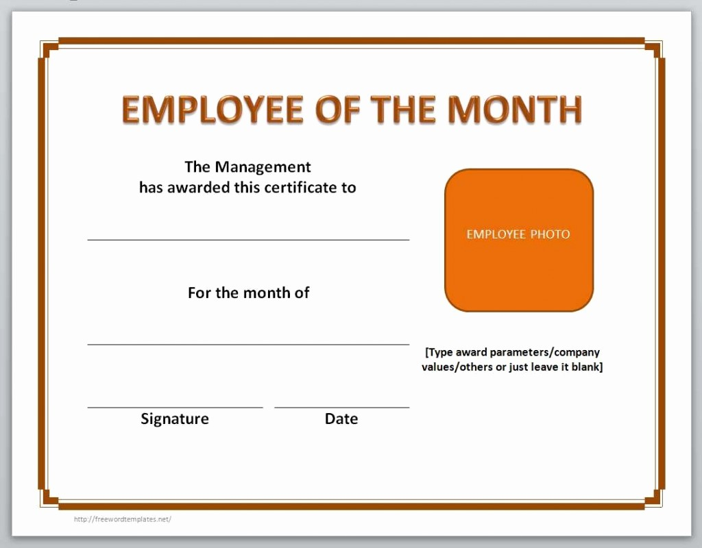 Employee Of the Month Free Lovely 13 Free Certificate Templates for Word