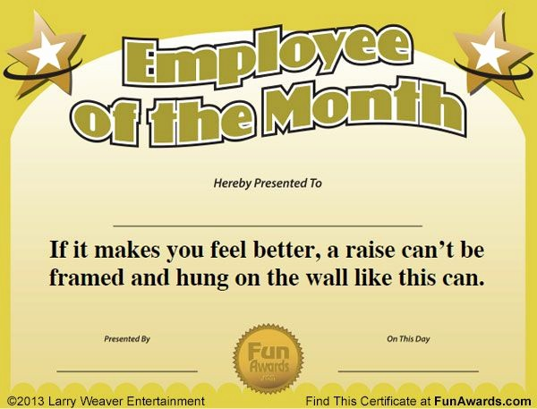 Employee Of the Month Free Unique 10 Best Images About Free Printable Certificates On