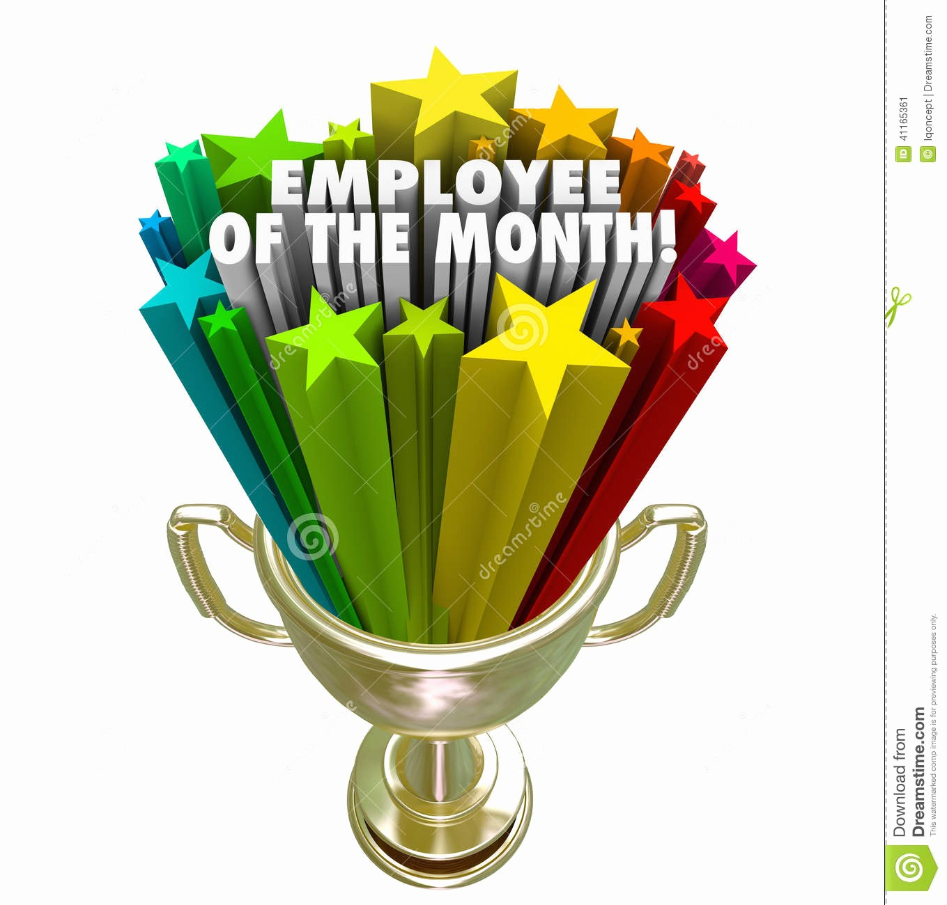 Employee Of the Month Free Unique Employee the Month Clipart