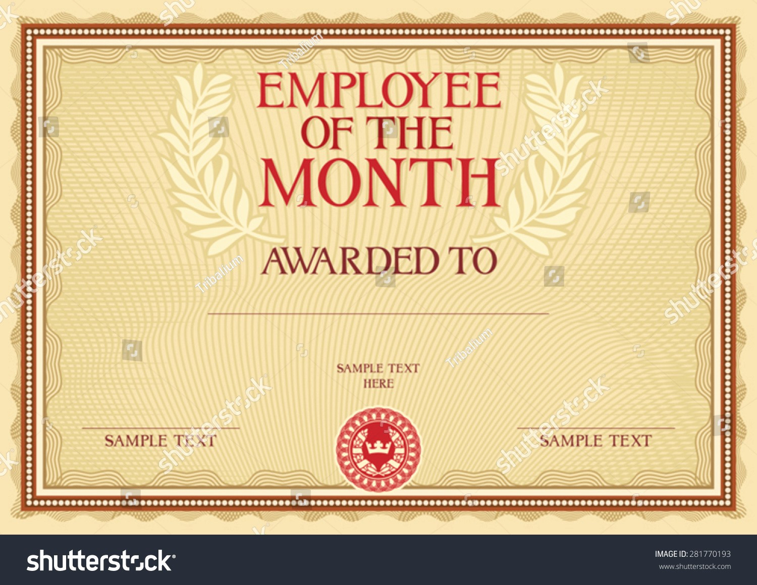 Employee Of the Month Sample Beautiful Employee the Month Certificate Template Download