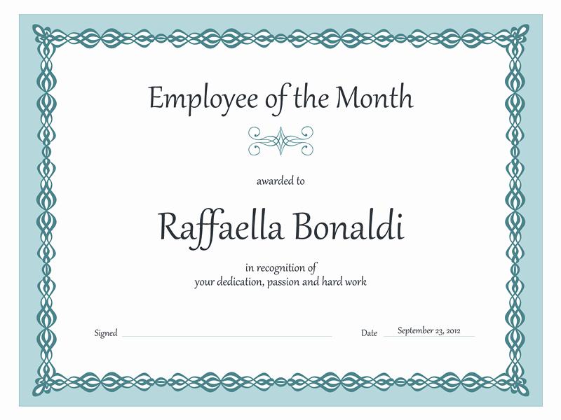 Employee Of the Quarter Certificate Beautiful Certificates Fice