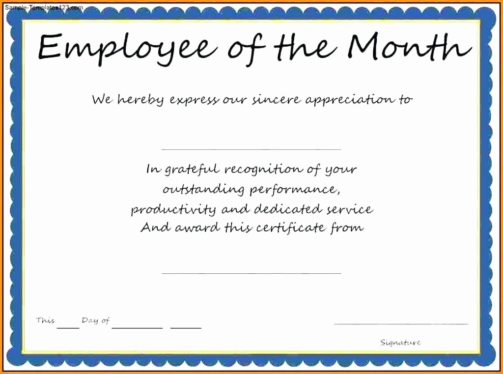 Employee Of the Quarter Certificate Best Of Honesty Award Certificate Education for Creative Thinking
