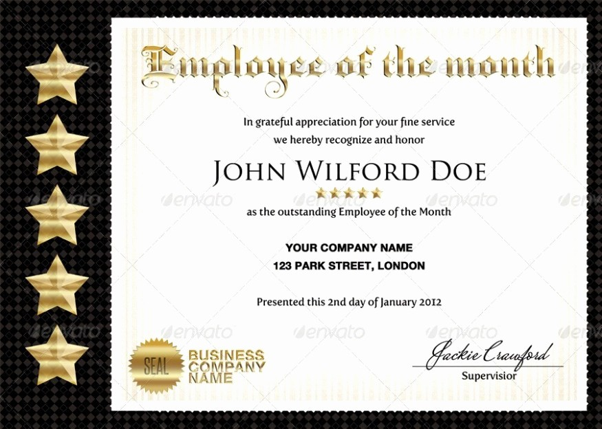 Employee Of the Quarter Certificate Lovely 50 Diploma and Certificate Templates In Psd Word Vector