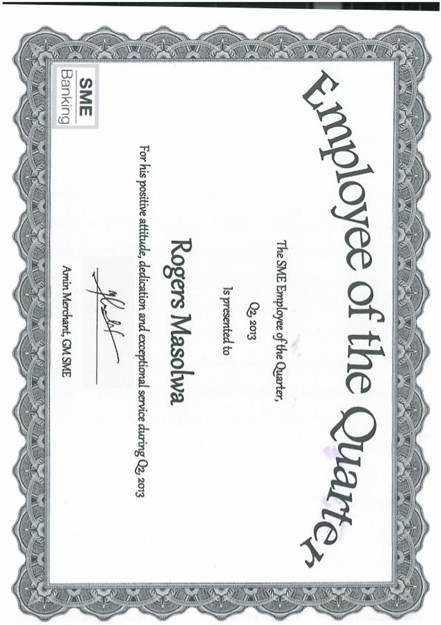 Employee Of the Quarter Certificate Lovely Certificate Of Sme Employee Of the Quarter Rogers
