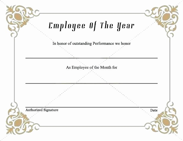 Employee Of the Quarter Certificate Luxury Years Service Award Certificate Templates Free