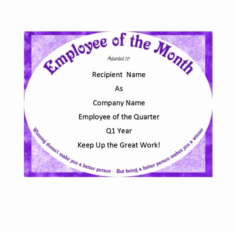 Employee Of the Quarter Certificate Unique Employee the Quarter Certificate 51 Pretty Pics Of